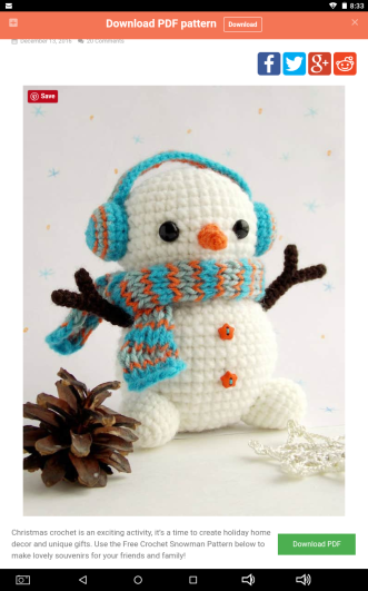 Adorable Holiday Deer Free Crochet Pattern | 531x332